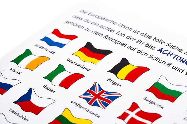 Stickerbogen mit Länderflaggen
