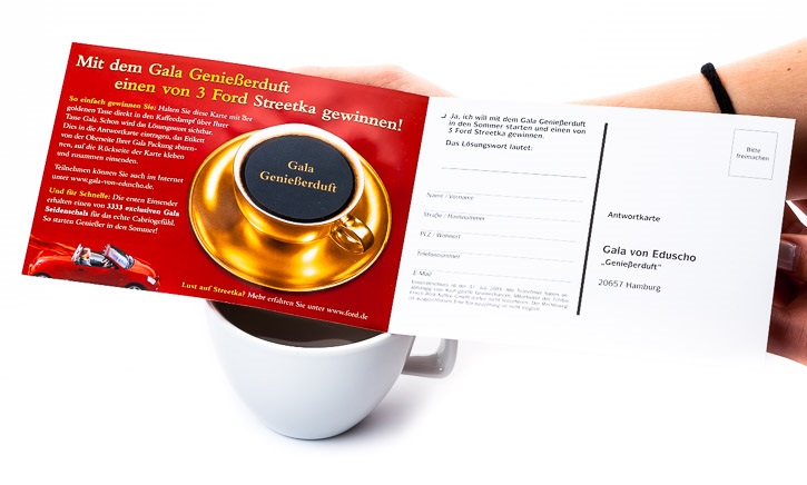 Mailing mit Thermofarbe